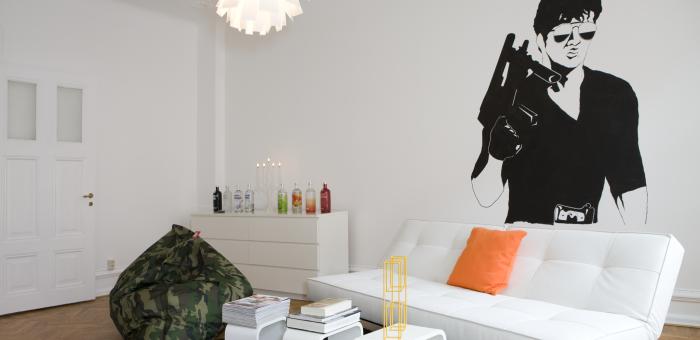madelene lägenhet malmö vardagsrum stallone