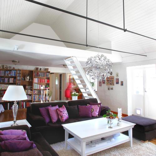 vardagsrum srutmålat vitt tak