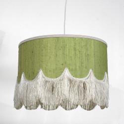 lampskärm grön med fransar