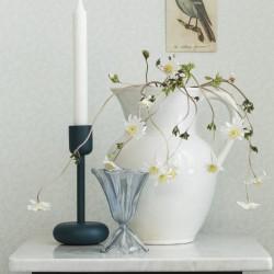 hvit blå blomstrete planter småmønstret