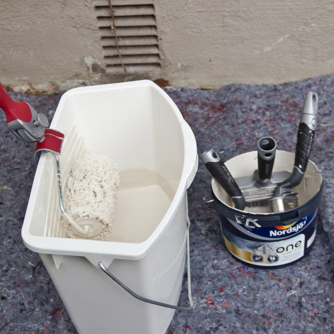 Riktig verktøy for å male fasade