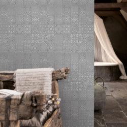 Aqua 4025-1 Marrakech Grey, våtromstapet fra Borge