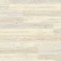 Nærbilde av et gulv av typen Klikkvinyl i lyst tre