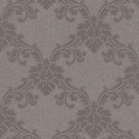 Nærbilde av brun tapet med ornament mønster