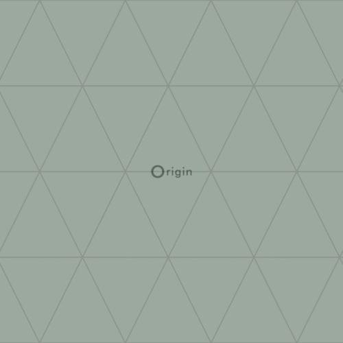utsnitt av grønn tapet med geomtrisk mønster